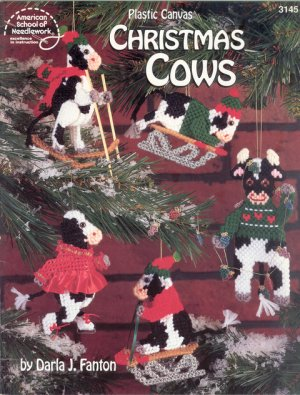 Plastic Canvas Christmas Cows