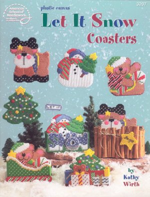 Plastic Canvas Let It Snow Coasters