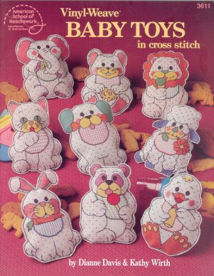Vinyl-Weave Baby Toys in Cross Stitch
