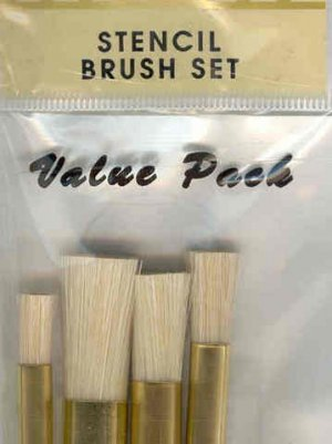 Crafters Choice Stencil Brushes Set of 4