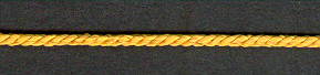 3mm, 3 Ply Cord Old Gold per mtr