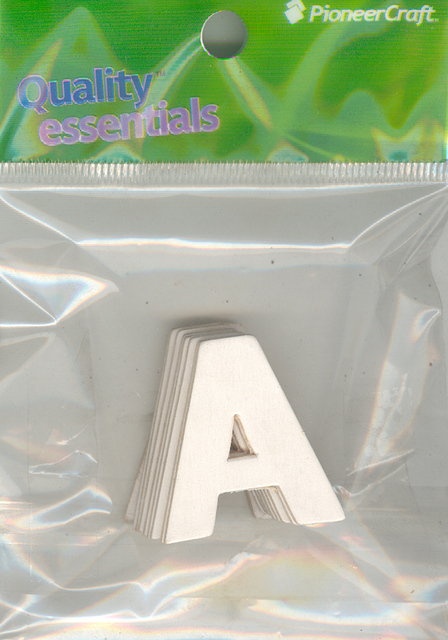 Set Small Alphabet (A)10 pack. Size 33x30mm