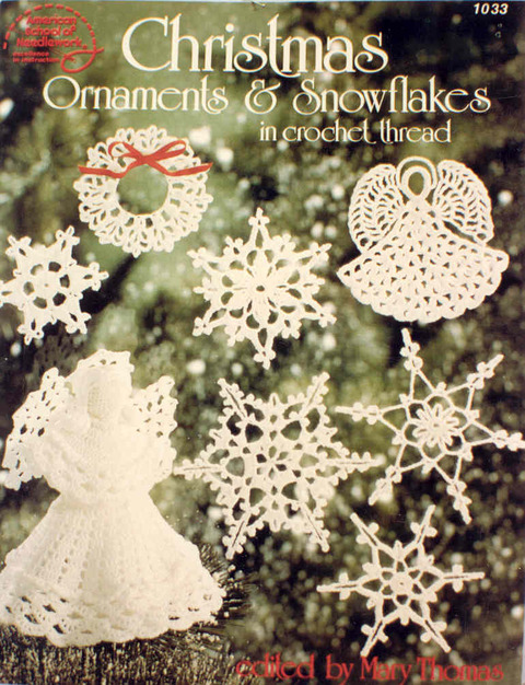 Christmas Ornaments & Snowflakes in crochet thread