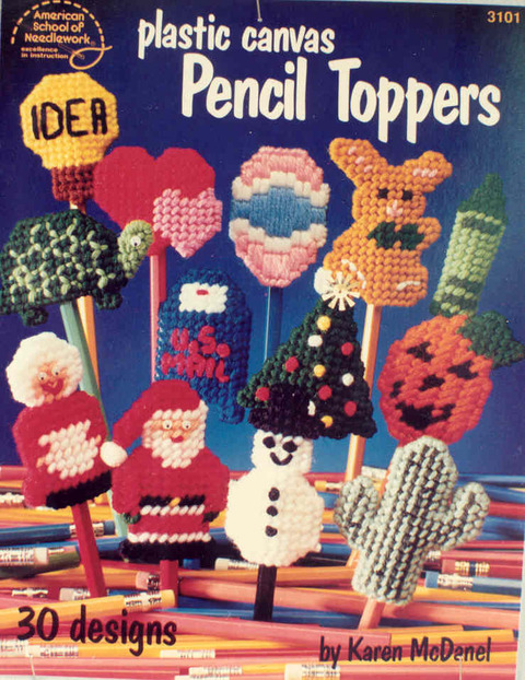Plastic Canvas Pencil Toppers