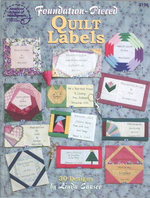 Foundation-Pieced Quilt Labels