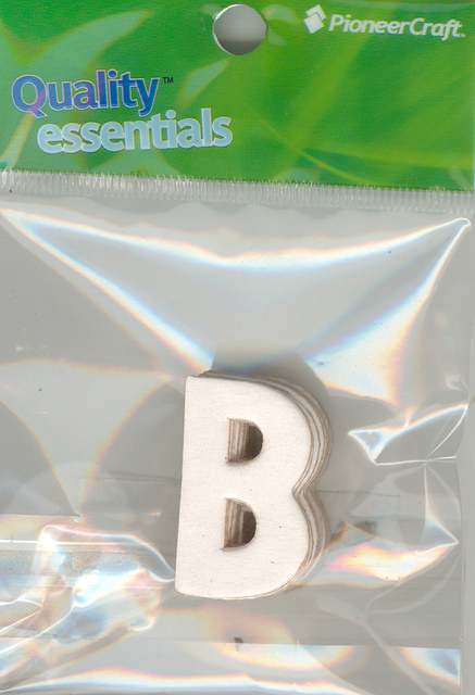 Set Small Alphabet (B)10 pack. Size 33x22mm