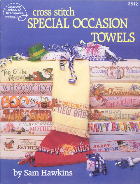 Cross Stitch Special Occasion Towels