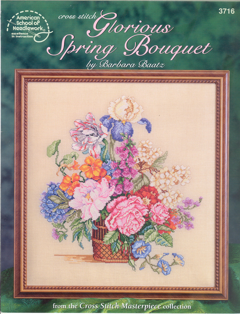 Cross Stitch Glorious Spring Bouquet