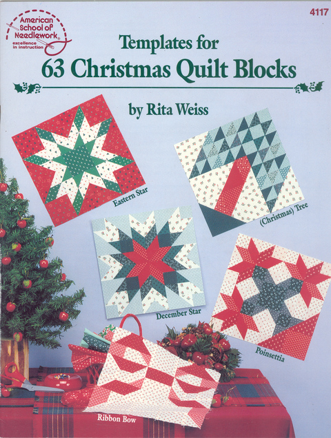Templates for 63 Christmas Quilt Blocks