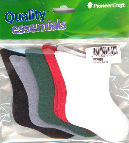 Felt Cut Out Sock 10p