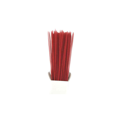 Chenille Sticks 3mm; Red 100p