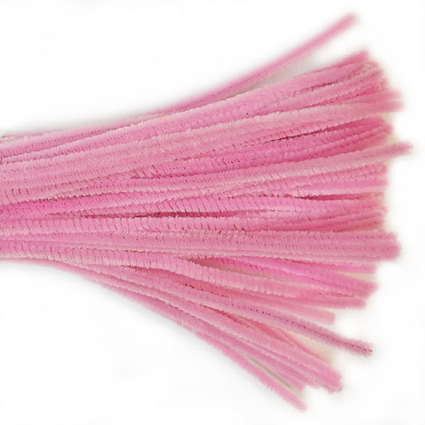 Chenille Sticks 6mm; Blossom Pink 100p