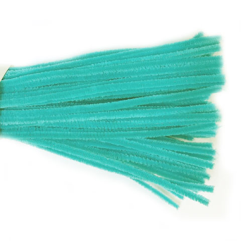 Chenille Sticks 6mm; Turquoise 100p