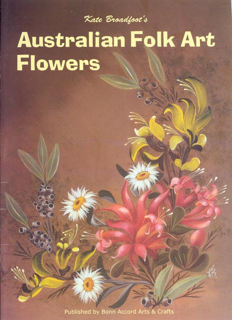 Australian Folk Art Flowers Bokbafaf1 Pioneer Craft