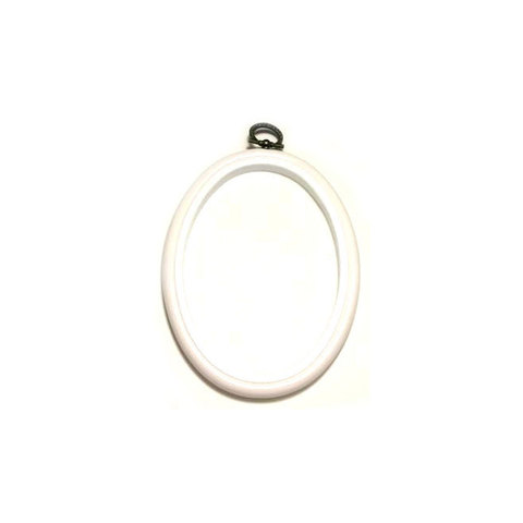 Flexi Hoop Oval 4 x 5.5in White 1p