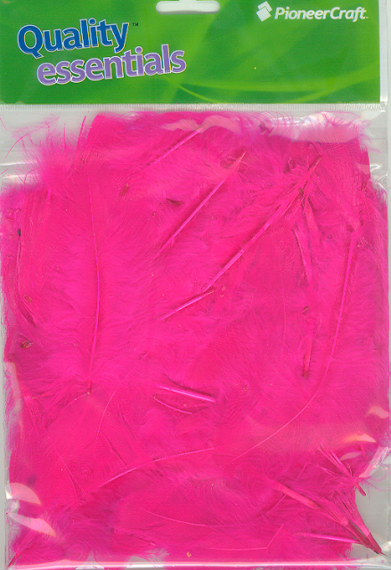 Turkey Feathers Hot Pink 7grams