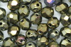 6mm Faceted Beads Brown Iris 100g