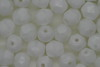 Czech Fire Polished Facet Bead 6mm Chalk White