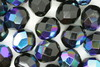 8mm Faceted Beads Black AB 100g