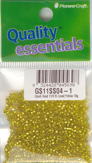 Czech Seed 11/0 SLS Lined Yellow 10g