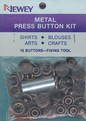 10mm Metal Press Button Bronze Kit with Tool (pkt15)