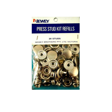 15mm Press Stud Kit Refills Nickle (20 Studs)