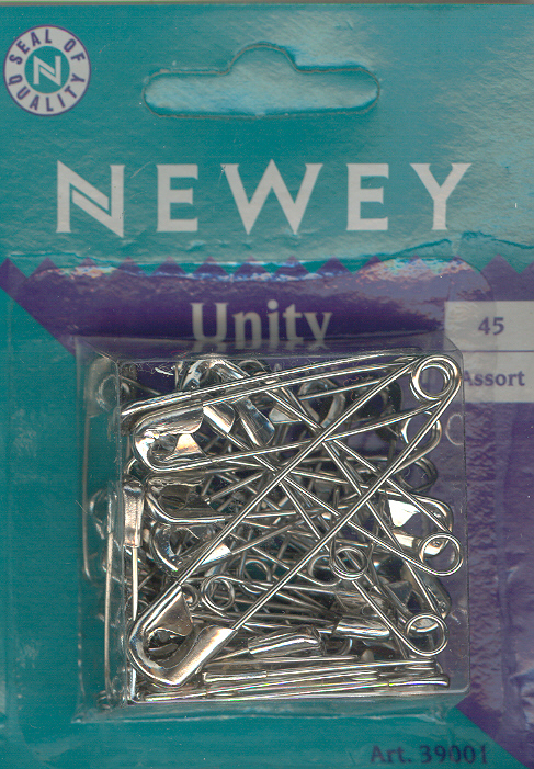 Safety Pins 45 Assorted