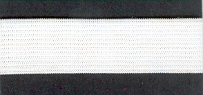 Knitted Elastic 20mm White p/m