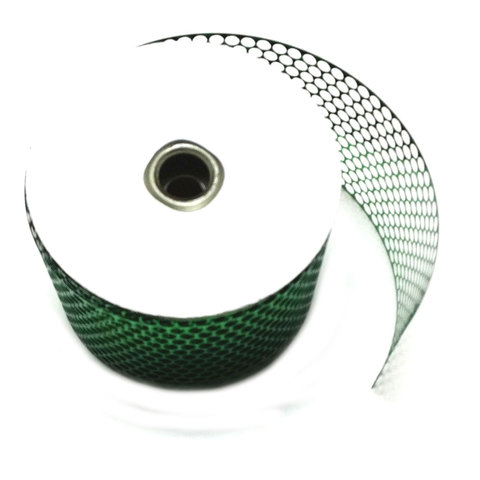 Honeycomb Sequin Ribbon 85mm wide, 45m roll; Green