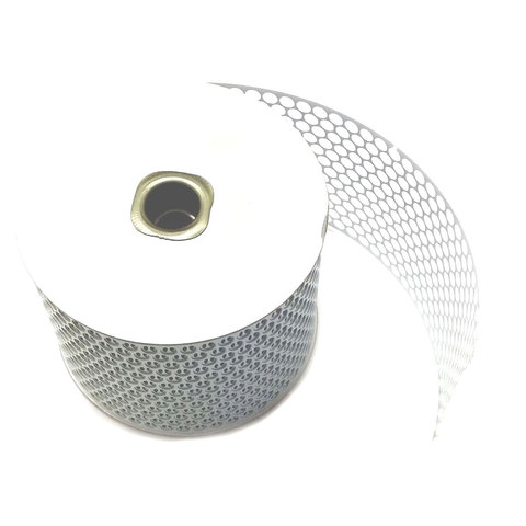 Honeycomb Sequin Ribbon 85mm wide, 45m roll; White
