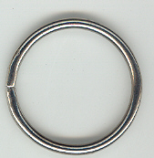 32mm Ring Nickel Plated, 100 piece.
