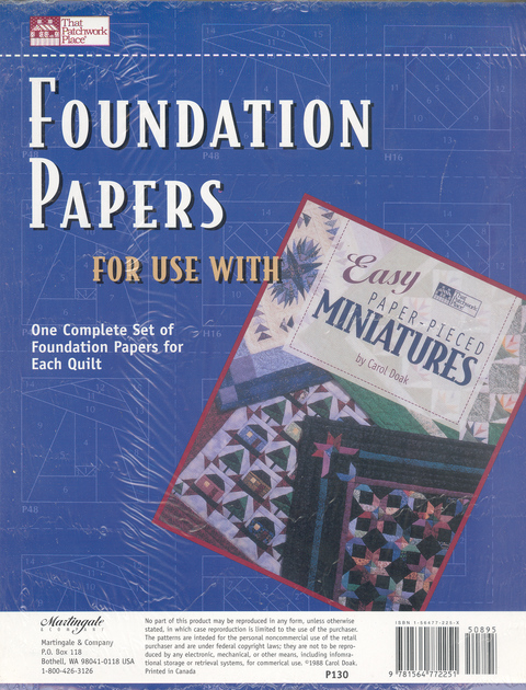 Foundation Papers for use with