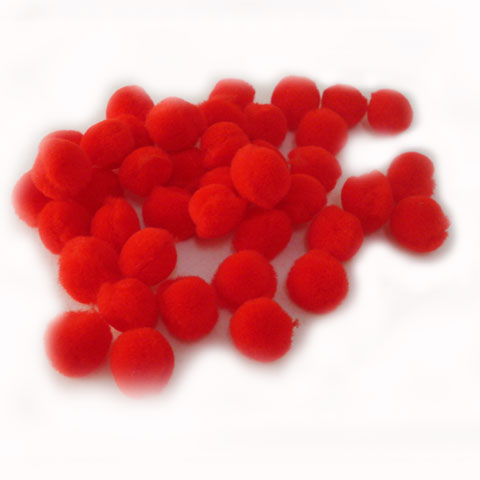 Pom Poms 20mm; Red