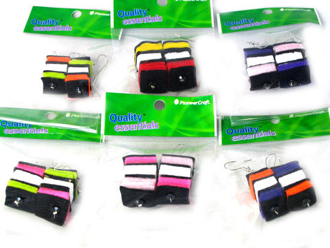 Licorice Allsorts Earrings (one pair)
