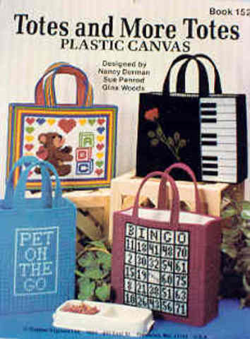 Plastic Canvas Totes and More Totes
