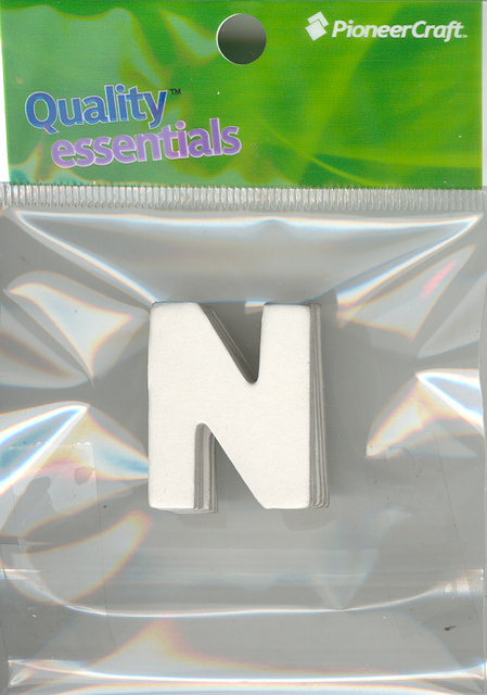 Set Small Alphabet (N)10 pack. Size 33x26mm